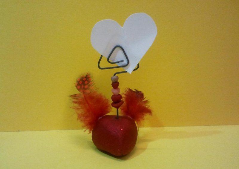 Zettelhalter geflügeltes Herz
