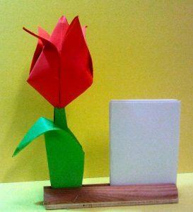 Tulpe im Ständer