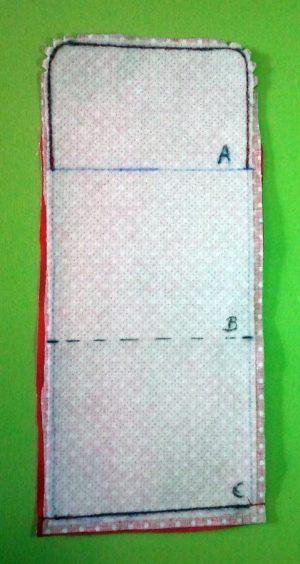 Minigeldbeutel Fertigungsbild 1