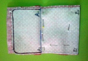 Minigeldbeutel Fertigungsbild 3