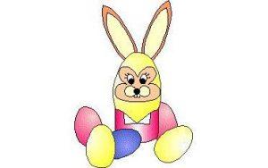 Hasen-Eierbecher für Ostern