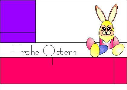 Karte Hasen-Eierbecher für Ostern