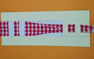 Schrägband Papier Schablone
