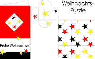 Weihnachtskarte Puzzle