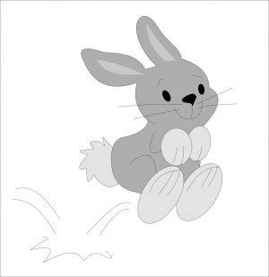 hüpfender Hase
