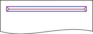 Reißverschluss Schlitz