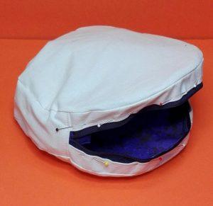 Runde Tasche mit Futter 12