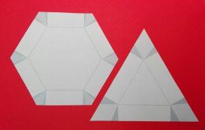 6 oder 3 eckige Papierschale 01