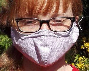 Behelfs-Mund-Nasen-Maske Tragebild 3D