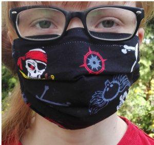 Behelfs-Mund-Nasen-Maske Tragebild F1